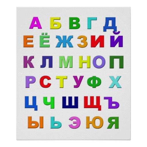 russisk alfabet norsk